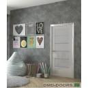 Дверь Вена, цвет ГЛЯНЕЦ  Белый,стекло матовое