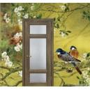 Дверь  Тоскана 3,стекло Ромб, цвет Бруно